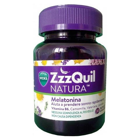 ZZZQUIL NATURA INTEGRATORE SONNO MELATONINA VICKS 30 PASTIGLIE - Farmastar.it