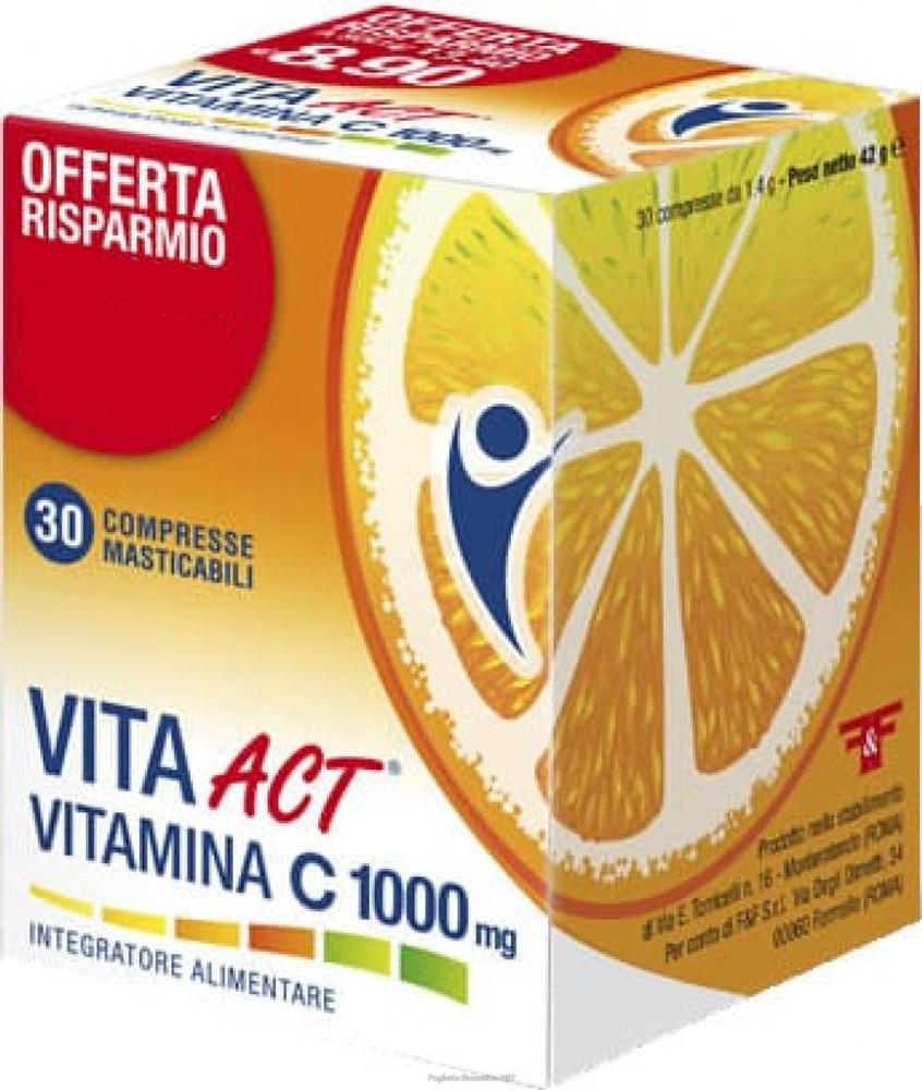 VITA ACT VITAMINA C 1000 MG 30 COMPRESSE MASTICABILI - Farmacia Centrale Dr. Monteleone Adriano