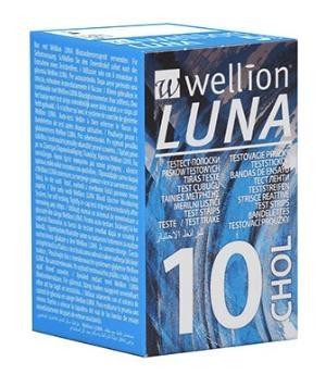 WELLION LUNA 10 STRIPS STRISCE PER MISURAZIONE COLESTEROLO - Farmaconvenienza.it