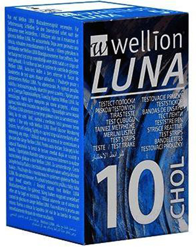 WELLION LUNA 10 STRIPS STRISCE PER MISURAZIONE COLESTEROLO - Farmacia Centrale Dr. Monteleone Adriano