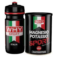 WHYSPORT MAGNESIO POTASSIO SPORT POLVERE 400 G + BORRACCIA - Farmalke.it