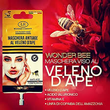WONDER BEE MASCHERA VISO VELENO D'APE ANTI AGE TONIFICANTE 15 ML - Farmajoy