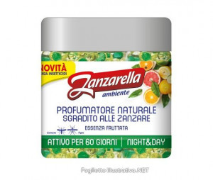 ZANZARELLA PERLE ANTIZANZARA ESSENZA FRUTTATA 170 G - Farmafamily.it