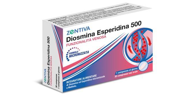 ZENTIVA DIOSMINA ESPERIDINA 500 30 COMPRESSE - Farmaconvenienza.it