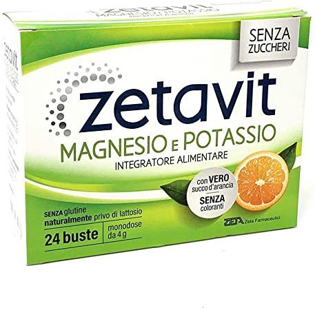 ZETAVIT MAGNESIO POTASSIO SENZA ZUCCHERO 24 BUSTINE DA 6 G - Farmacia Massaro