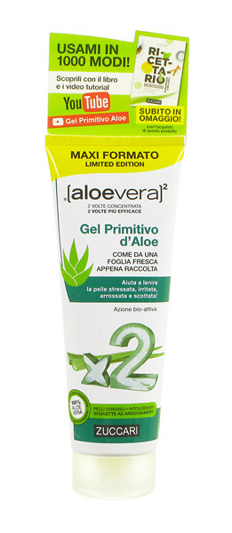 ZUCCARI ALOEVERA2 GEL PRIMITIVO D'ALOE LIMITED EDITION 250 ML - Farmacia 33