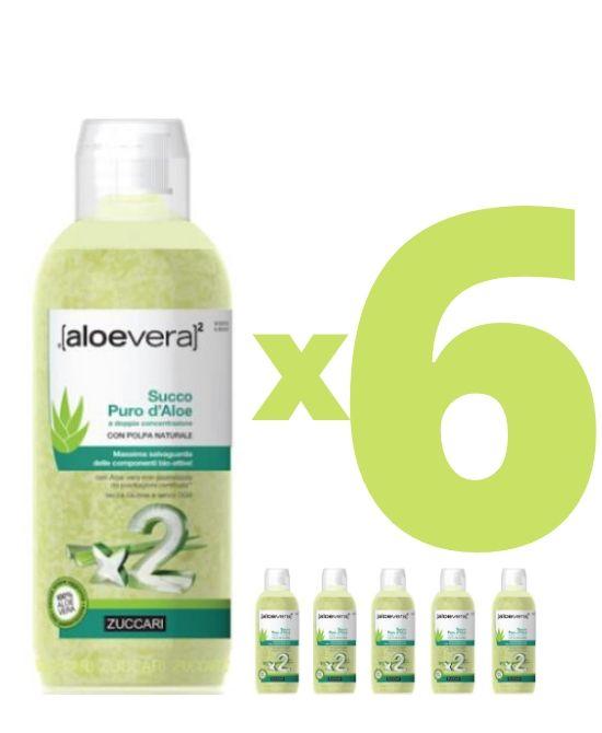 Zuccari Aloevera2 Succo Puro D'Aloe A Doppia Concentrazione 1000ml 6 bottigle  - Farmacia 33