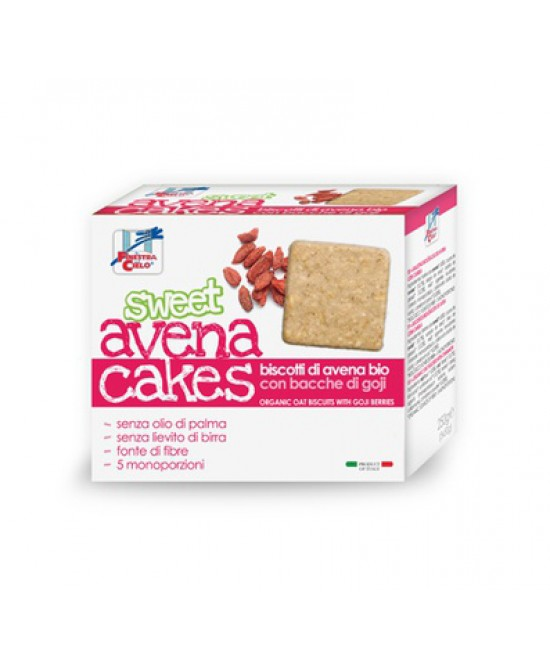 La Finestra Sul Cielo Sweet AvenaCakes Biscotti Di Avena Bio Con Bacche di Goji 250 g