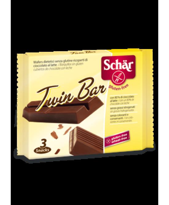 Schar Twin Bar Wafers Ricoperti Di Cioccolato Al Latte Senza Glutine 107,5g - farma-store.it