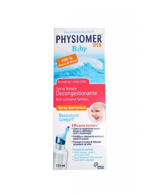 Physiomer Baby Iper Spray Nasale Ipertonico Decongestionante 115ml - Farmastar.it