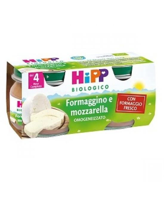 Hipp Biologico Omogeneizzato Formaggino E Mozzarella 2x80g - Farmafamily.it