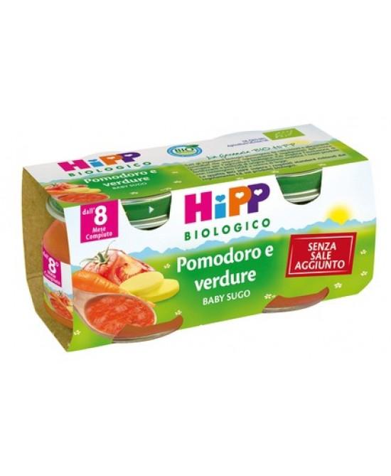Hipp Biologico Baby Sugo Pomodoro E Verdure 2x80g - Farmalandia