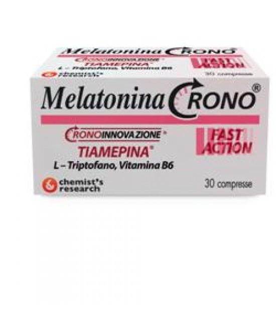 MELATONINA CRONO 1MG TIAMEPINA 30 COMPRESSE - Farmaciacarpediem.it