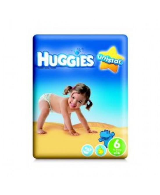 HUGGIES UNISTAR 6 15/30KG 14PZ prezzi bassi