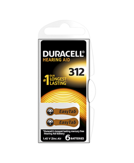DURACELL EASY TAB 312 MARRONE BATTERIA PER APPARECCHIO ACUSTICO - FARMACIABORRELLI.IT