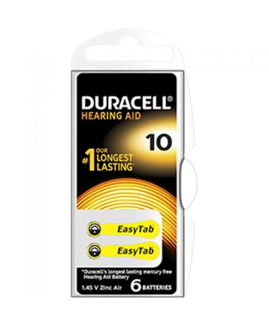 Duracell Easy Tab 10 Colore Giallo Batterie Per Apparecchi Auricolari - Farmawing