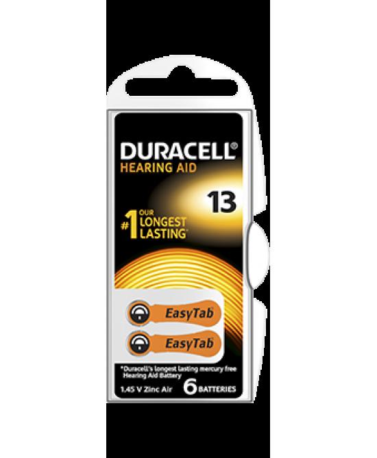 Duracell  Easy Tab 13 Colore Arancio Batterie Per Apparecchi Acustici - Zfarmacia