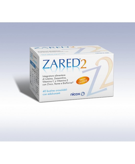 Zared 2 Integratore Alimentare 40 Stick Pack - Farmaciasconti.it