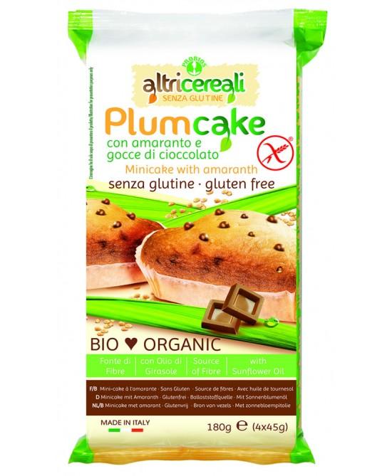 AltriCereali Plumcake Con Amaranto E Gocce Di Cioccolato Biologico Senza Glutine 180 g