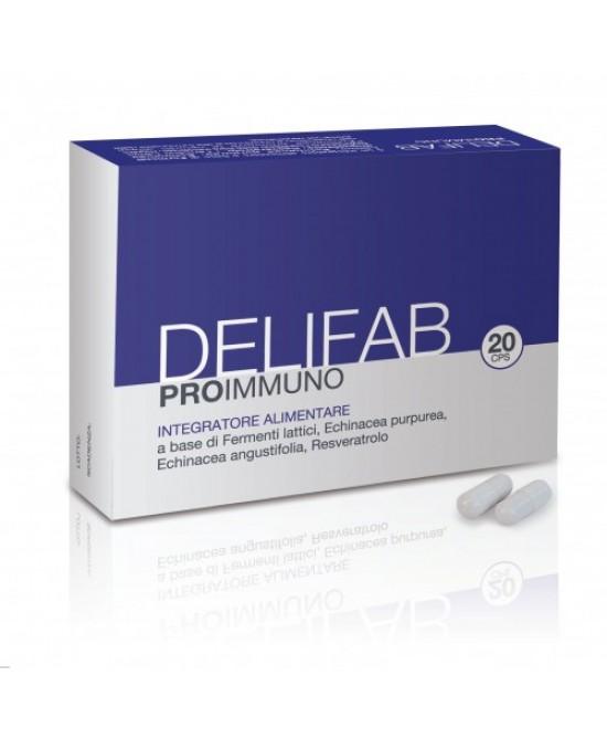 Delifab Pro Immuno Integratore Fermenti Lattici 20 Capsule