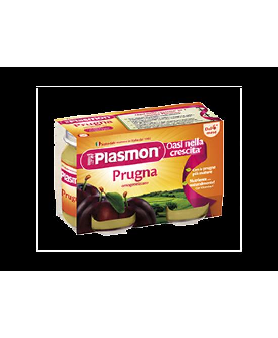 Plasmon Omogeneizzato Di Frutta Prugna 2x104g - La farmacia digitale