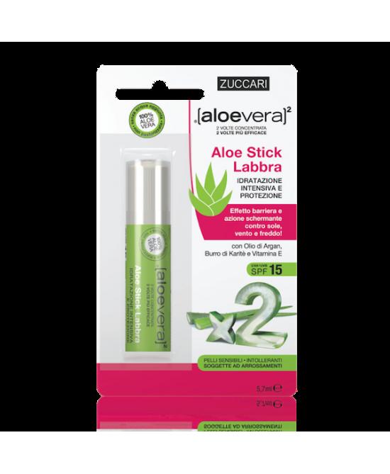Zuccari Aloevera2 Aloe Stick Labbra 5.7ml - FARMAEMPORIO