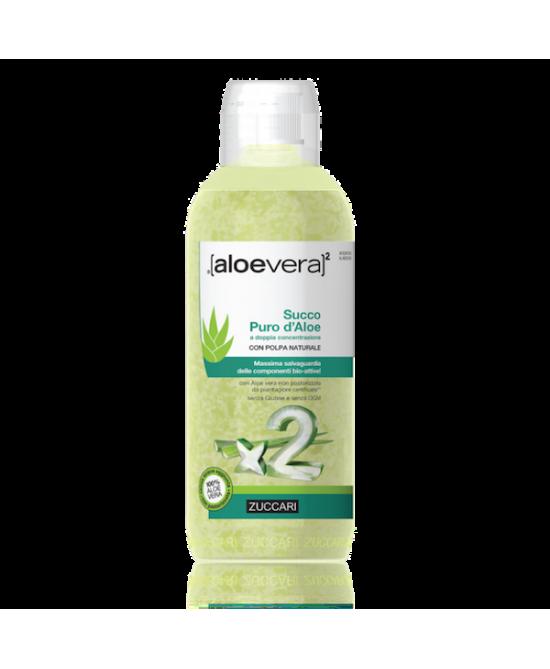 Zuccari Aloevera2 Succo Puro D'Aloe A Doppia Concentrazione 1000ml - Farmacia 33