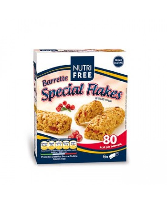 Nutrifree Barrette Special Flakes Con Frutti Rossi Senza Glutine 120g (6x20g) -