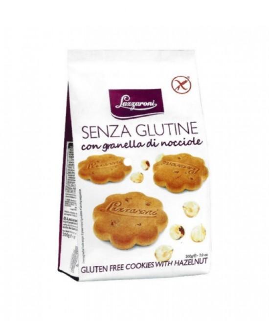 Lazzaroni Biscotti Con Granella Di Nocciole Senza Glutine 200g - FARMAEMPORIO