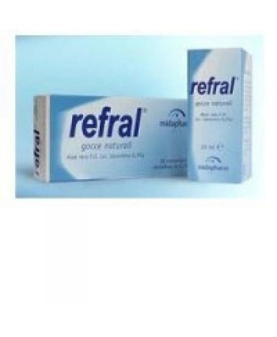 REFRAL MONODOSE GOCCE OCULARI 20 CONTENITORI X 0,5 ML - Farmacia Centrale Dr. Monteleone Adriano