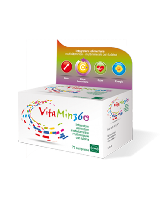 Sofar Vitamin 360 Integratore Alimentre Multivitaminico Multiminerale 70 Compresse - Farmajoy