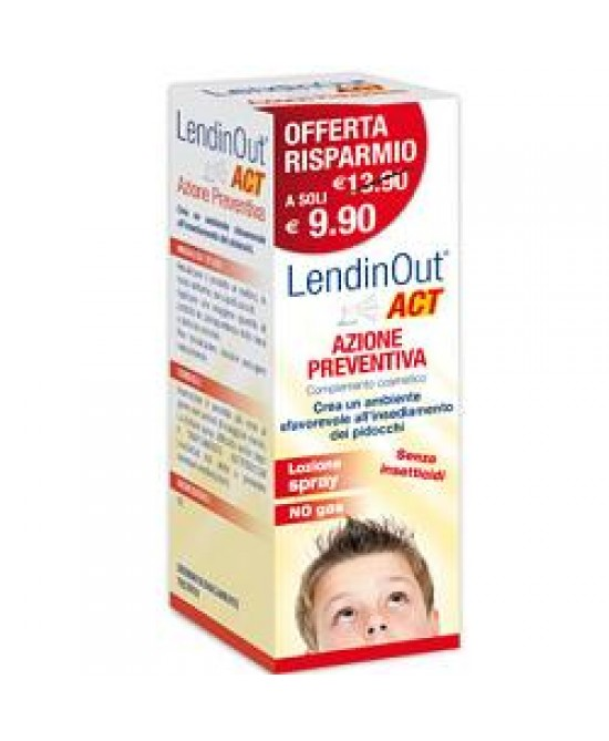 LendinOut Act Azione Preventiva Pidocchi Spray 100ml - FARMAEMPORIO
