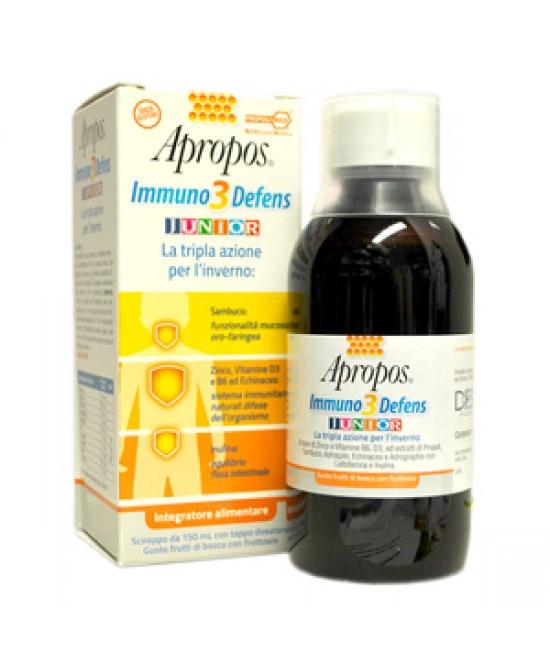Apropos Immuno3 Defens Junior Integratore Alimentare 150ml