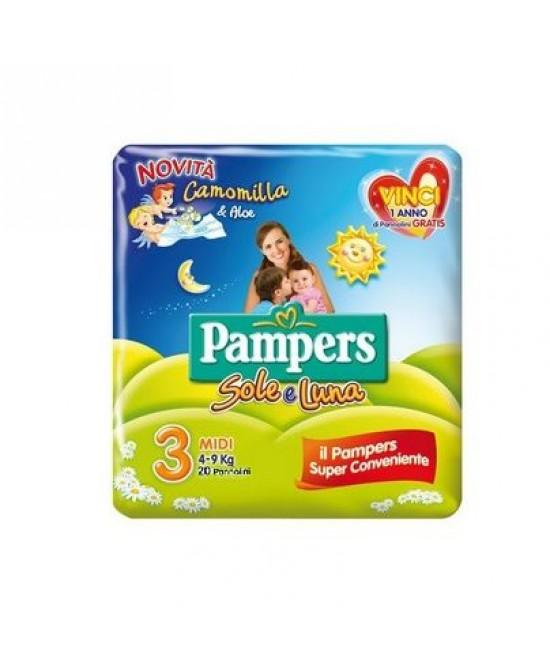 Pampers Sole&Luna Midi  Misura 3 (4-9kg) 20 Pannolini -