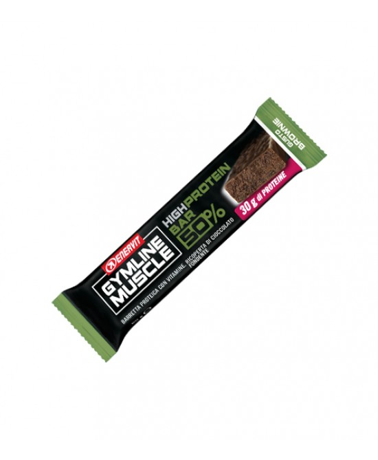 Enervit Gymline Muscle High Protein Bar 50% Gusto Brownie Barretta Proteica 60g - Farmabros.it