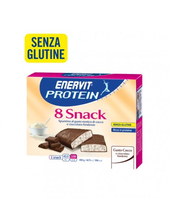 Enervit Protein 8 Snack Barretta Gusto Cocco 8x23g - FARMAEMPORIO