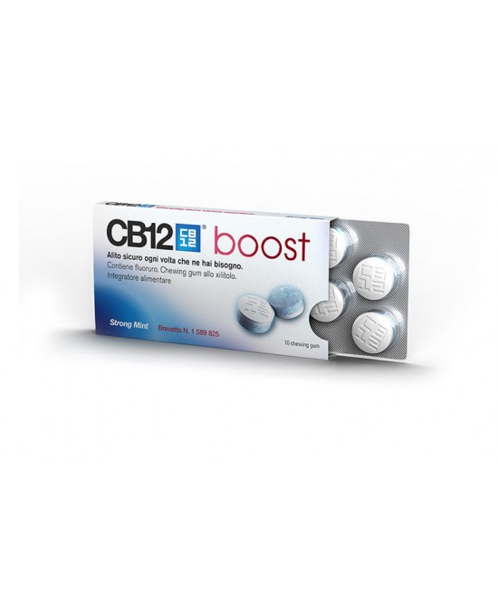 CB12 Boost Menta Forte Senza Zucchero 10 Chewing-Gum - Farmafamily.it