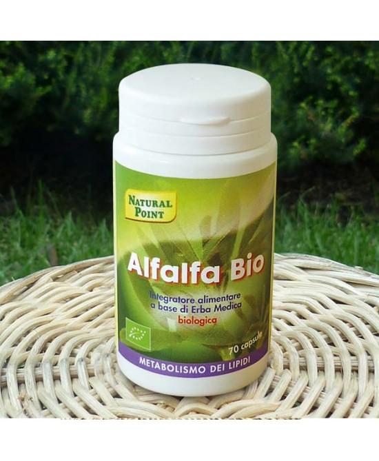 Natural Point Alfalfa Bio Integratore Metabolismo dei Lipidi 70 Capsule