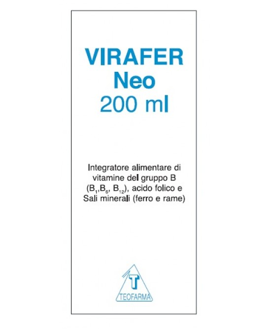 Virafer Neo Integratore Alimentare 200ml - Farmabros.it