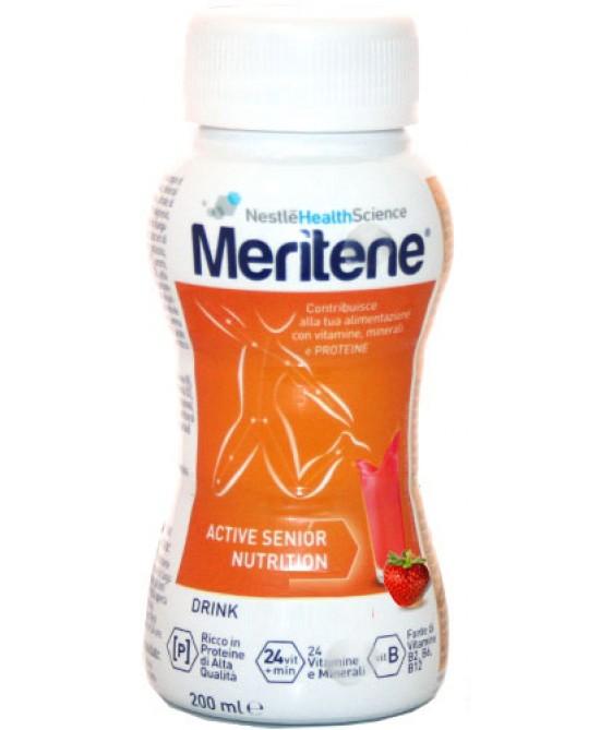 Meritene Drink Gusto Fragola 200ml - Farmawing