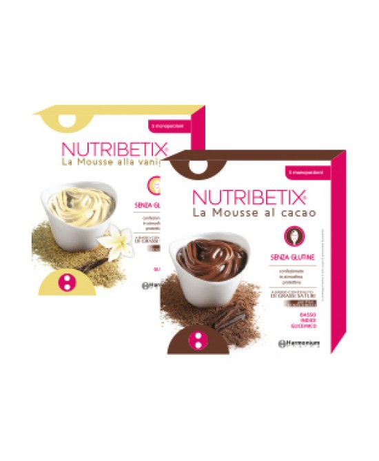 Harmonium Pharma Nutribetix La Mousse Al Cacao Senza Glutine 5 Monoporzioni
