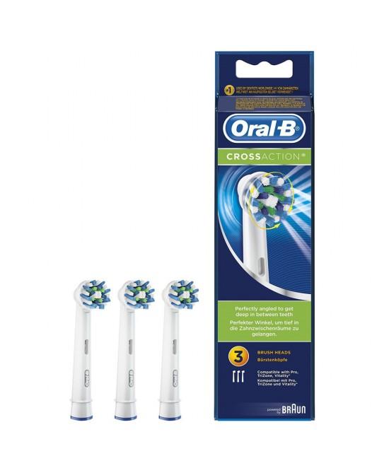 Oral-B CrossAction 3 Testine di Ricambio Per Spazzolino Elettrico - latuafarmaciaonline.it
