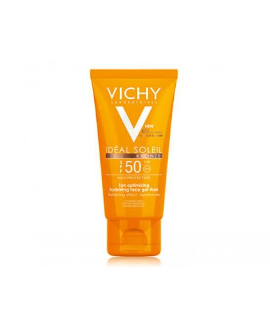 Vichy Ideal Soleil Gel Bronze Spf50 Protezione Viso 50ml
