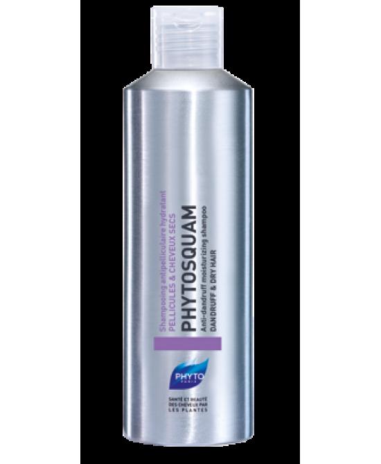 Phyto Phytosquam Hydratant Fase di Stabilizzazione Shampoo di Trattamento Anti-Forfora Intensivo Capelli Secchi con Forfora 200ml