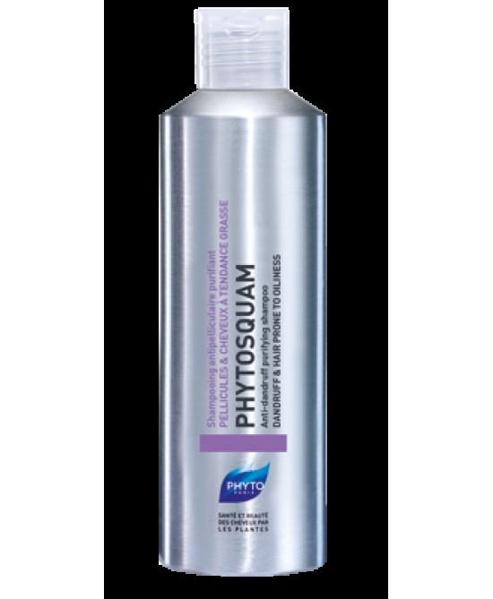 Phyto Phytosquam Hydratant Fase Di Stabilizzazione Shampoo Anti-Forfora Purificante Capelli A Tendenza Grassa 200ml - Farmawing