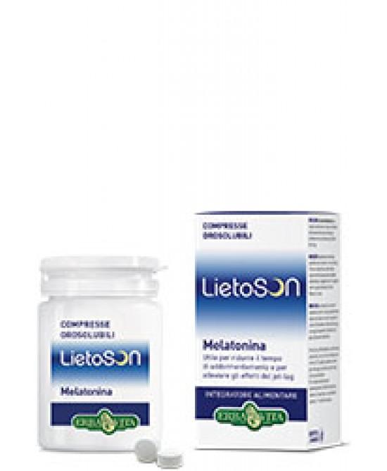 ErbaVita Linea Lietoson LietoSon Melatonina Compresse Integratore Alimentare 120 Compresse