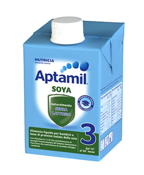 Aptamil Latte DI Crescita Soya 3 Liquido 500ml - Farmafamily.it