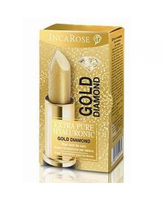 IncaRose Eph Extra Pure Hyaluronic Gold Diamond Stick Labbra 4 ml - Farmastar.it