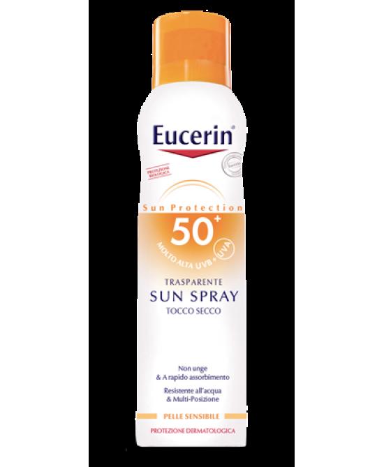 Eucerin Sun Spray Tocco Secco FP 50 Protezione Corpo 200 ml