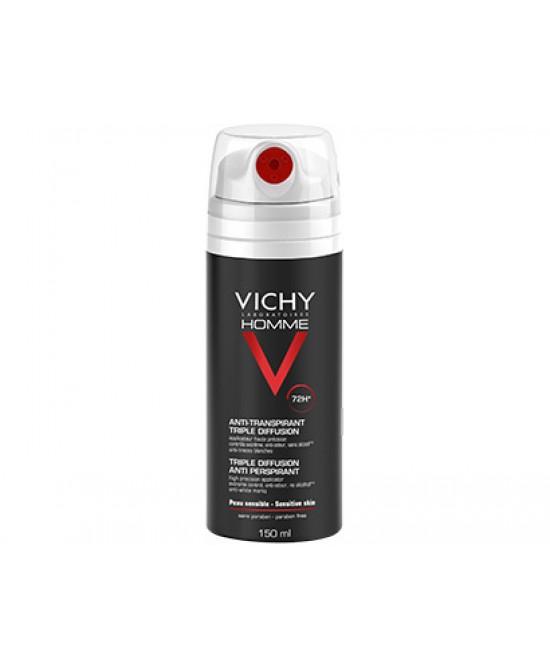 Vichy Homme Deodorante Anti-Traspirante Tripla Diffusione 72h 150ml - Farmia.it